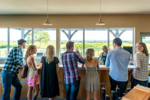 Tasting at Blomidon Estate Winery